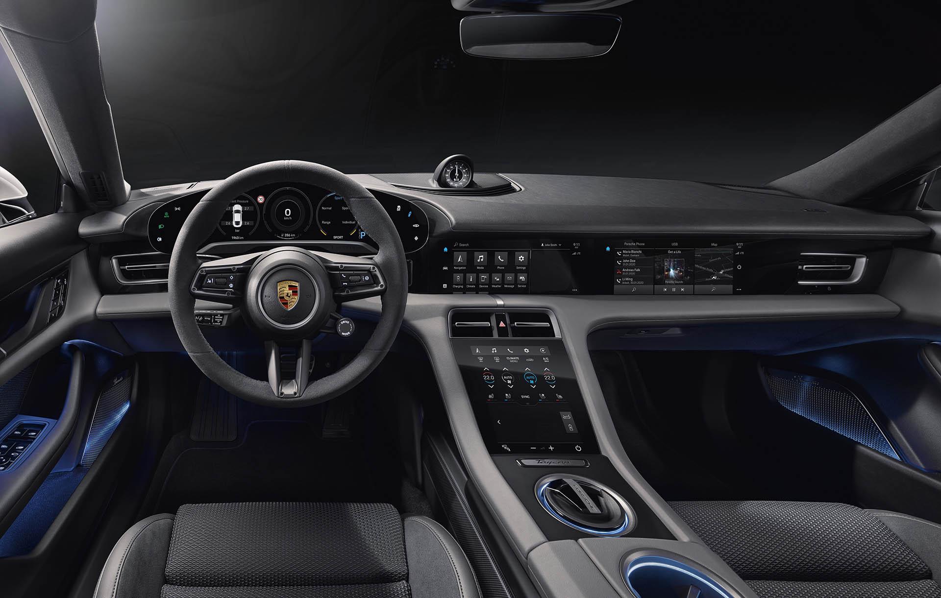 Porsche Taycan utastér