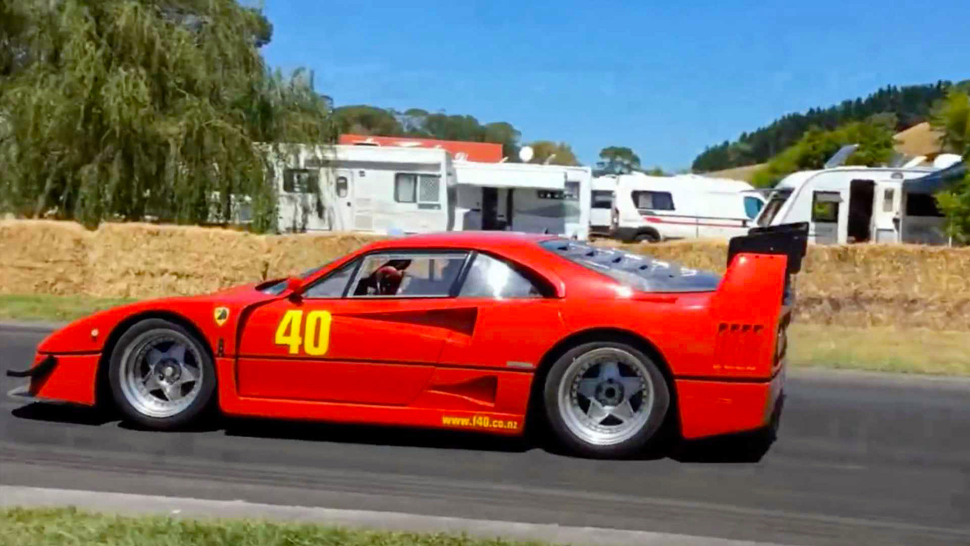 ferrari f40 lm replica left side profile